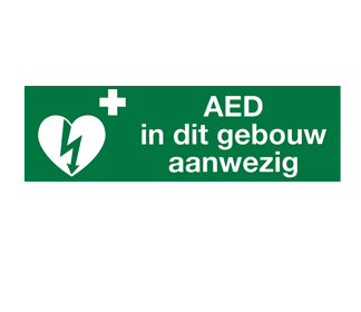 AED in dit pand aanwezig 30x10